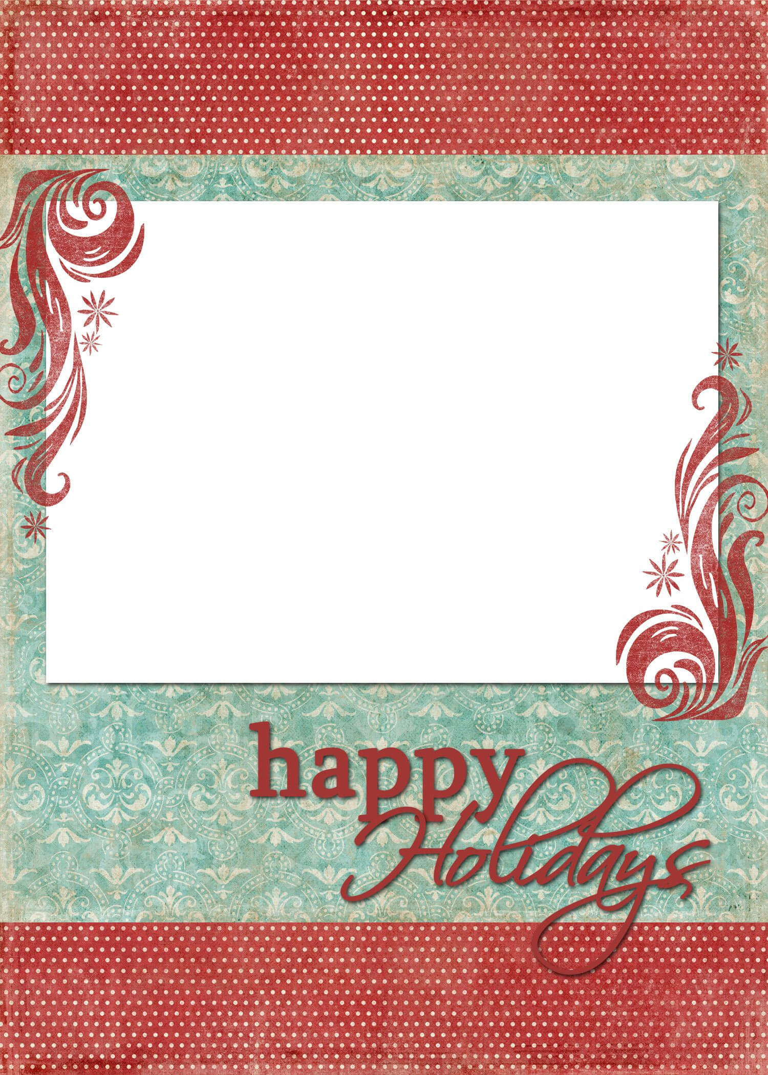 Happy Holidays Blue Red | Freebies :) | Christmas Card regarding Happy Holidays Card Template