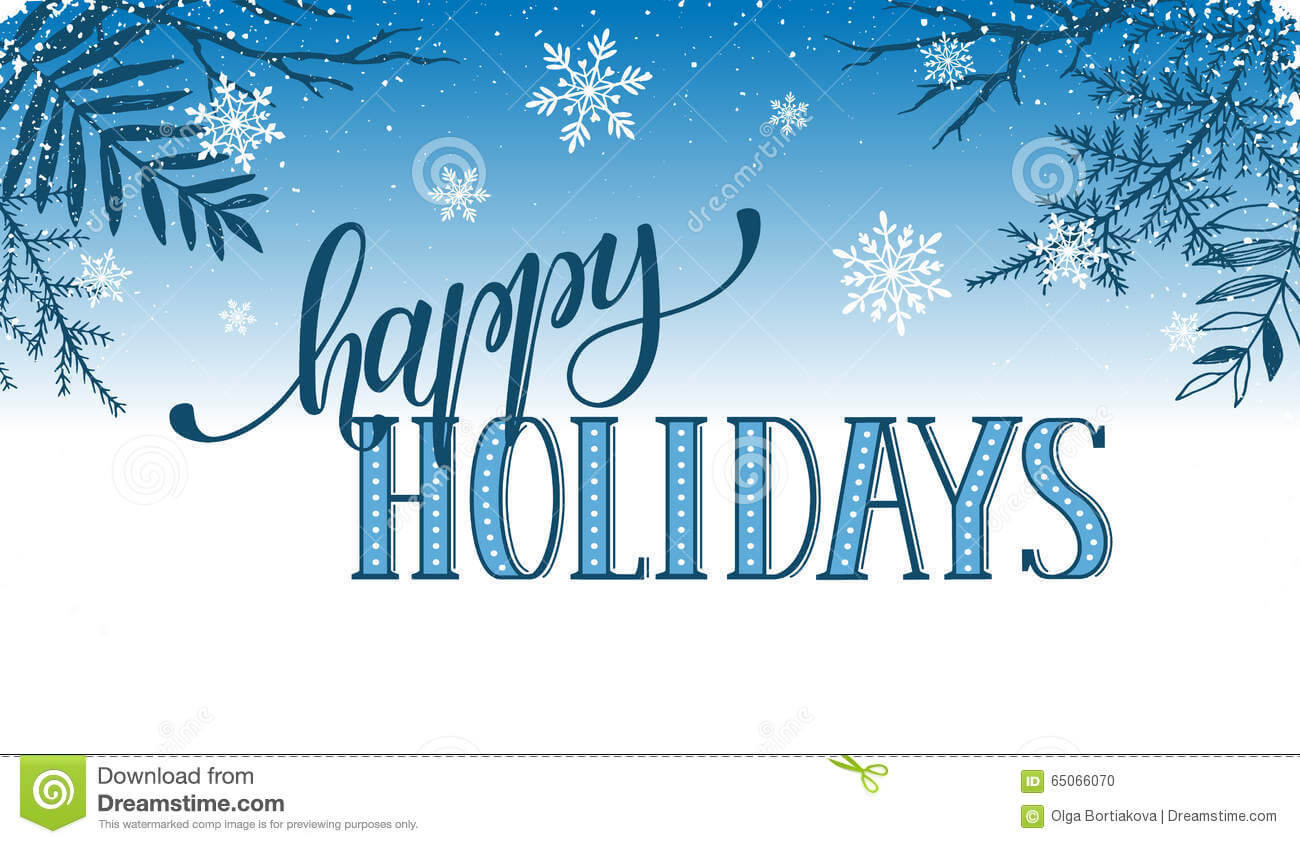 Happy Holidays Card Stock Vector. Illustration Of Modern throughout Happy Holidays Card Template