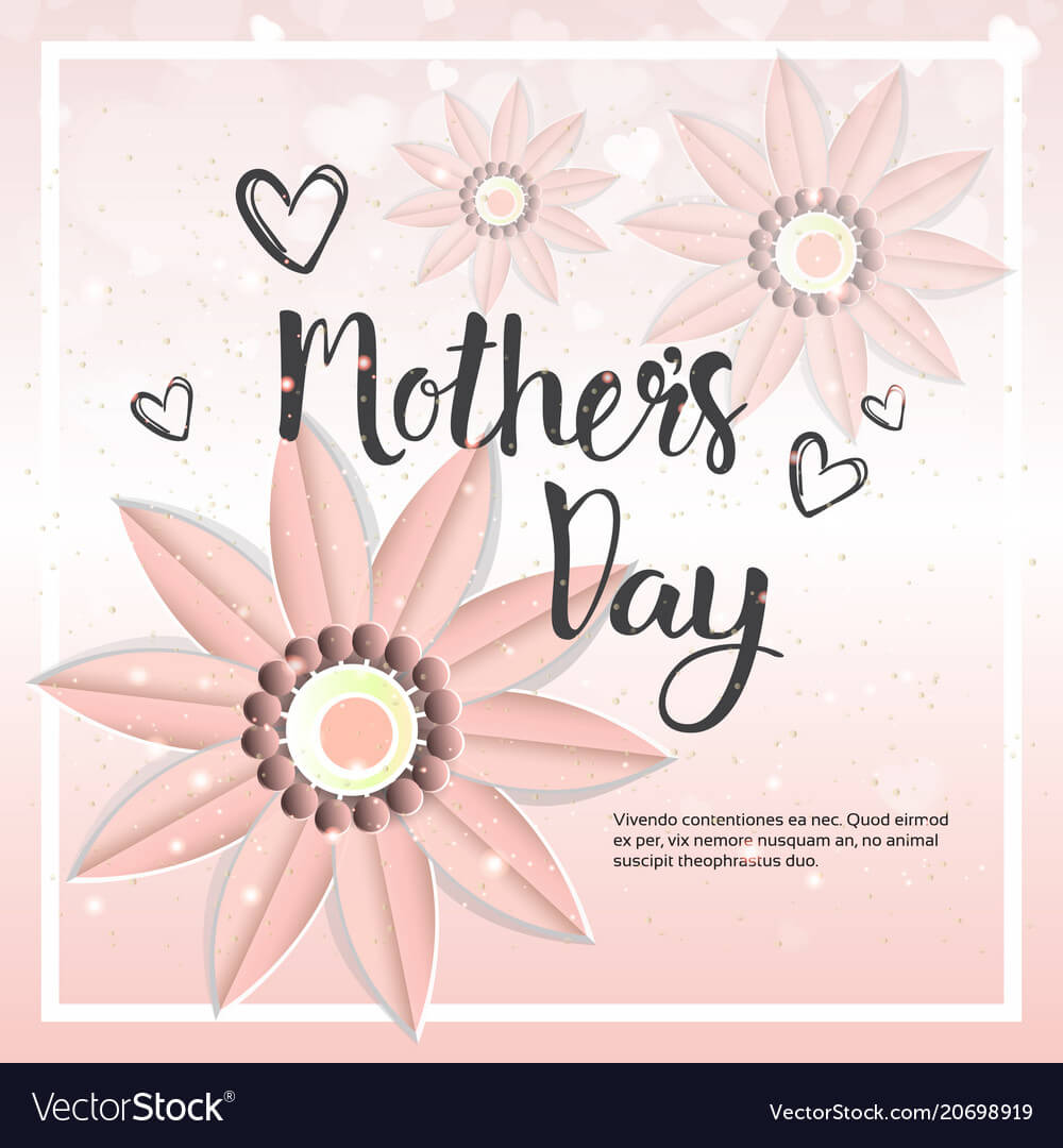 Happy Mother Day Card Background Template With intended for Mothers Day Card Templates