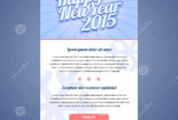 Happy New Year Holiday Greeting Email Template Stock Vector with regard to Holiday Card Email Template
