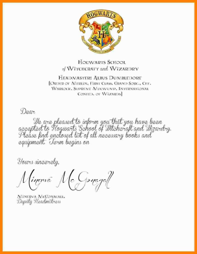 Harry Potter Certificate Template Printable – Cover Letter With Harry Potter Certificate Template
