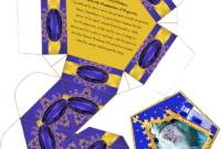 Harry Potter Paraphernalia: Chocolate Frogs Box Template for Chocolate Frog Card Template