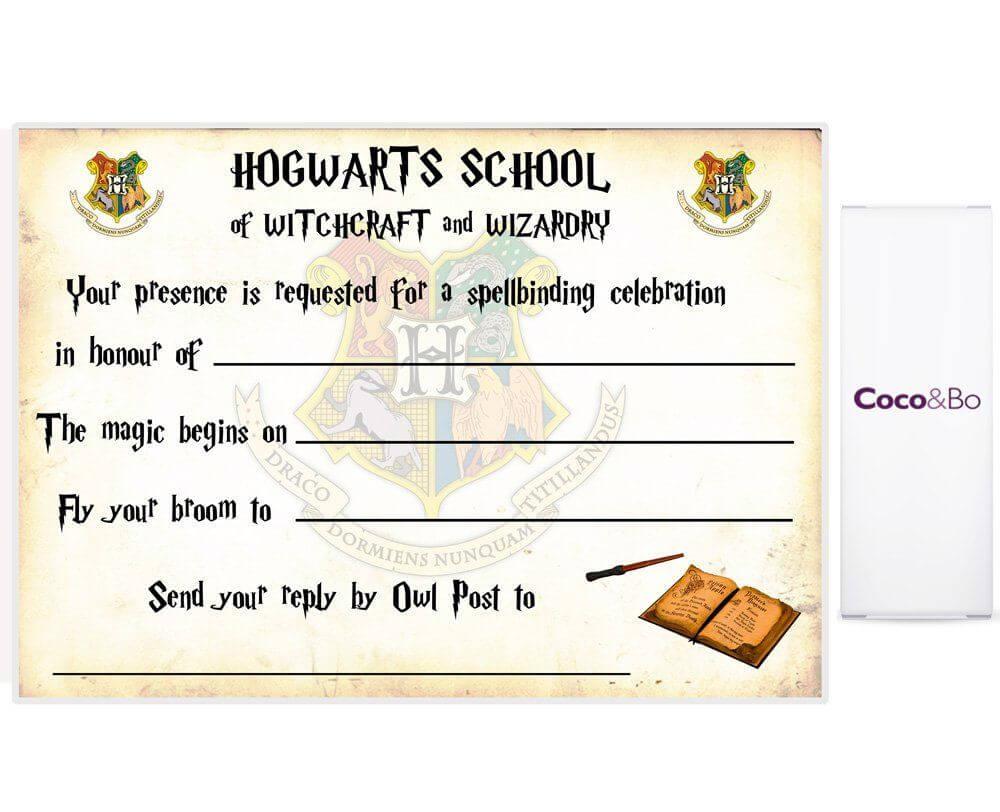 Harry Potter Ticket Invitation Template – Bagvania Free In Harry Potter Certificate Template