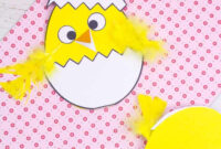Hatching Chick Easter Card Craft – Kids Craft Room pertaining to Easter Chick Card Template