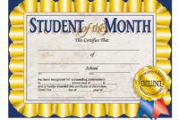 Hayes Student Of The Month Certificate, 30 Per Pack, 6 Packs with Hayes Certificate Templates