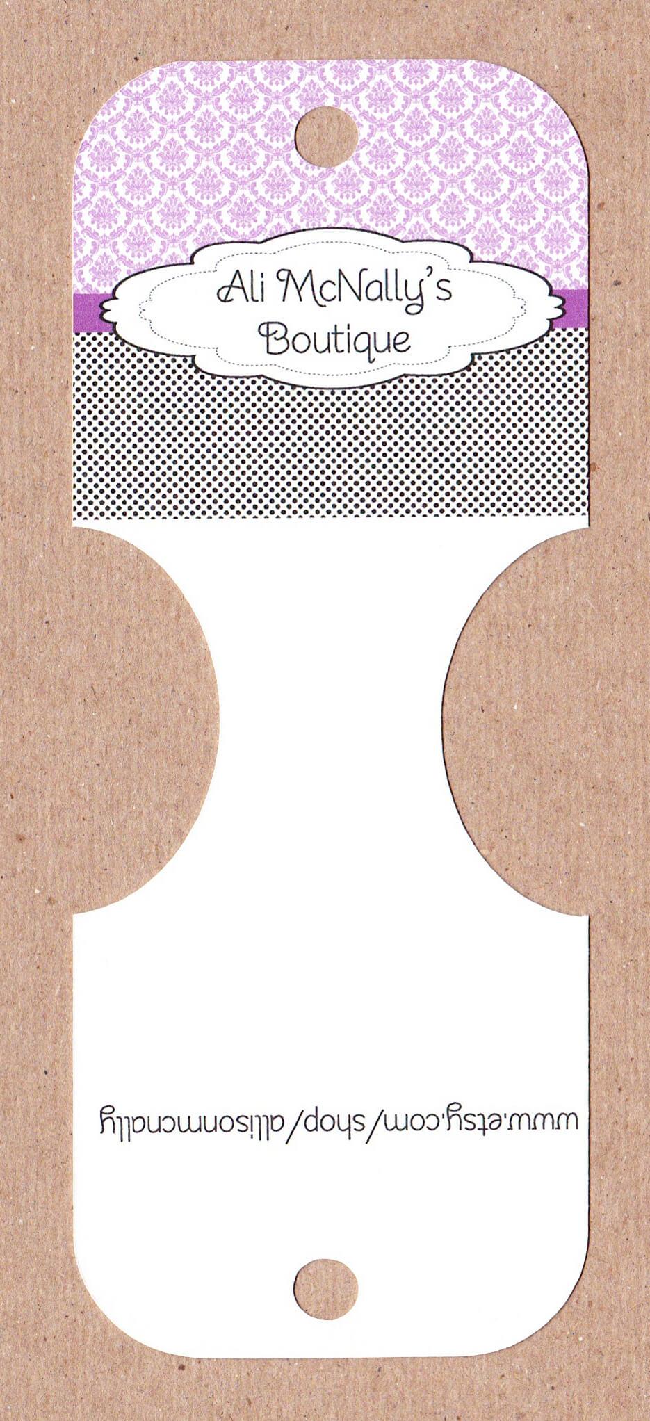 Headband/ Pony Tail Holder Display Cards Www.mypapercrafts inside Headband Card Template