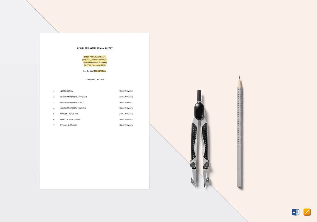 Health And Safety Annual Report Template within Annual Health And Safety Report Template