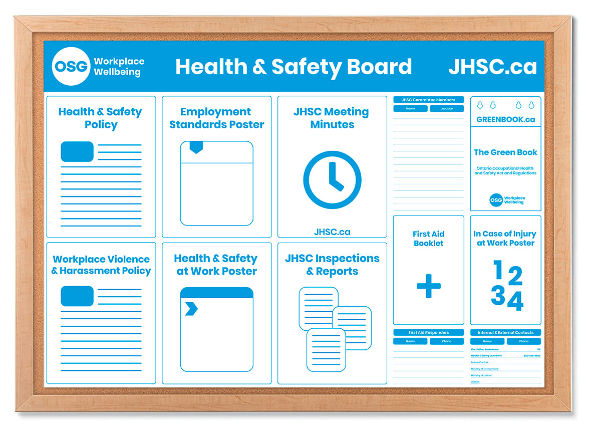 Health And Safety Board Poster Template - Osg Throughout Health And Safety Board Report Template