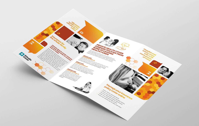 Health Insurance Tri-Fold Brochure Template In Psd, Ai within Membership Brochure Template