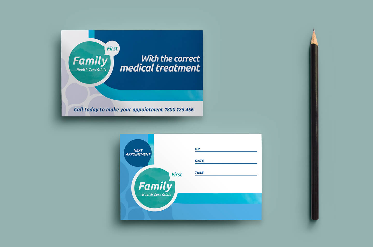 Healthcare Clinic Appointment Card Template In Psd, Ai within Medical Appointment Card Template Free