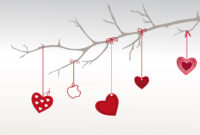 Heart Branch For Valentine Day Backgrounds For Powerpoint For Valentine Powerpoint Templates Free