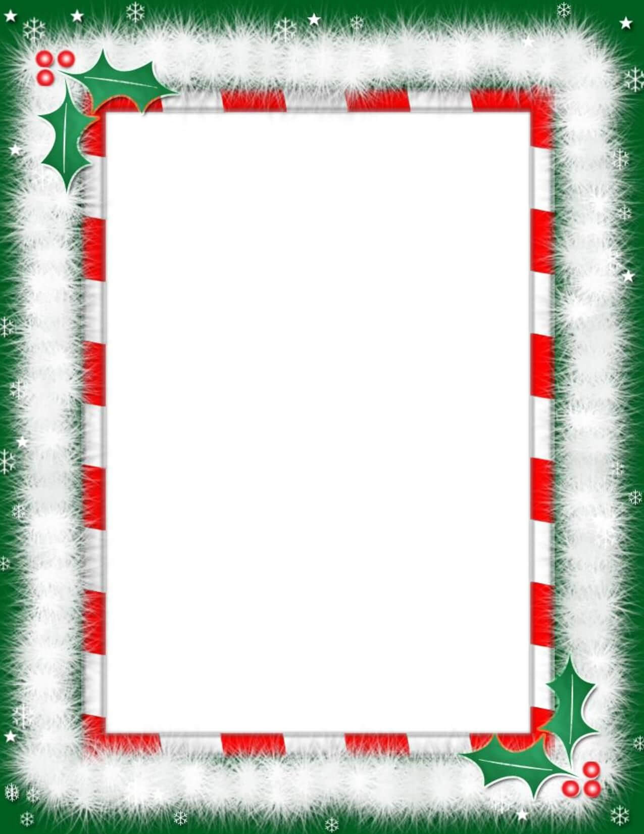 Heart Word Borders Templates Free |  Borders For Word Inside Christmas Border Word Template