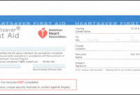 Heartsaver First Aid Cpr Aed Card Template – Template 1 pertaining to Cpr Card Template