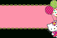 Hello Kitty Banner Template pertaining to Hello Kitty Banner Template