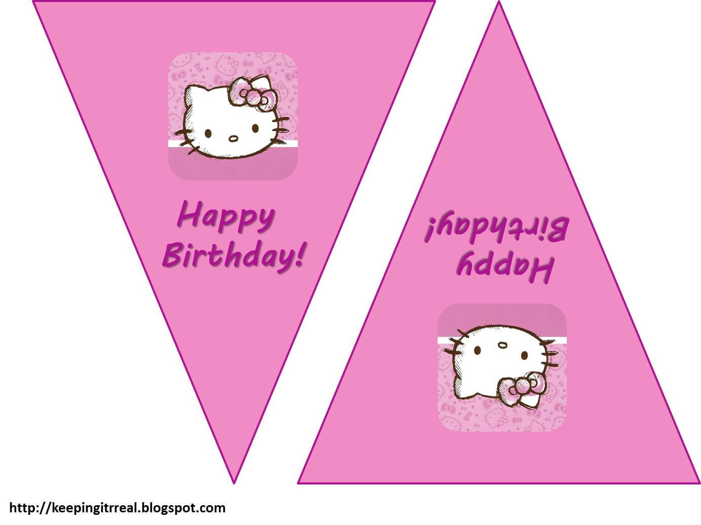 Hello Kitty Birthday Banner Template Free 2 » Happy Birthday inside Hello Kitty Birthday Banner Template Free
