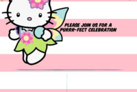 Hello Kitty Invitation Template – Portrait Mode | Free in Hello Kitty Birthday Banner Template Free