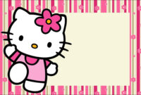 Hello Kitty With Flowers: Free Printable Invitations. – Oh within Hello Kitty Birthday Banner Template Free
