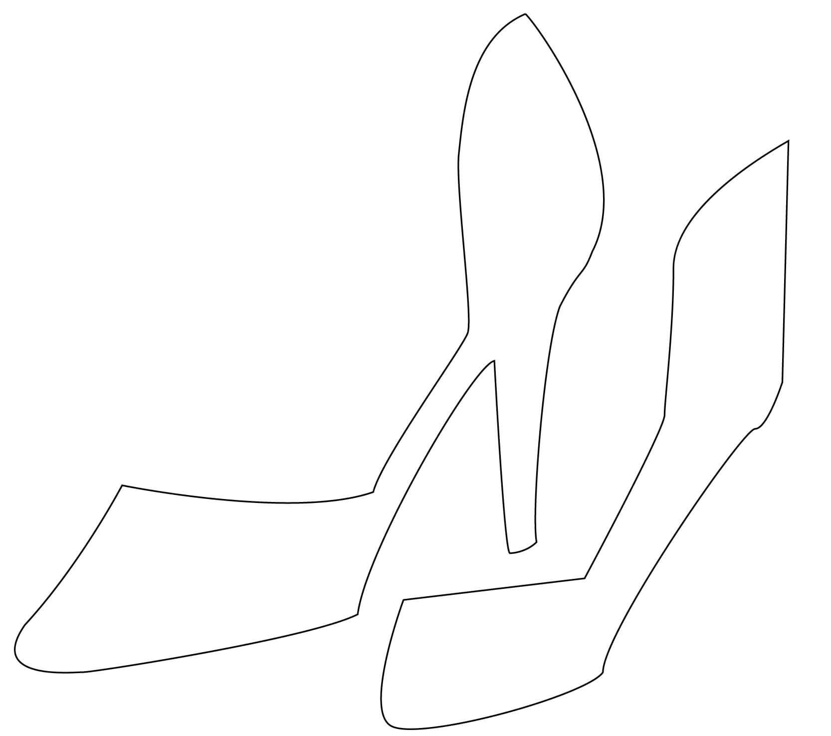 High Heel Drawing Template At Paintingvalley   Explore with regard to High Heel Template For Cards