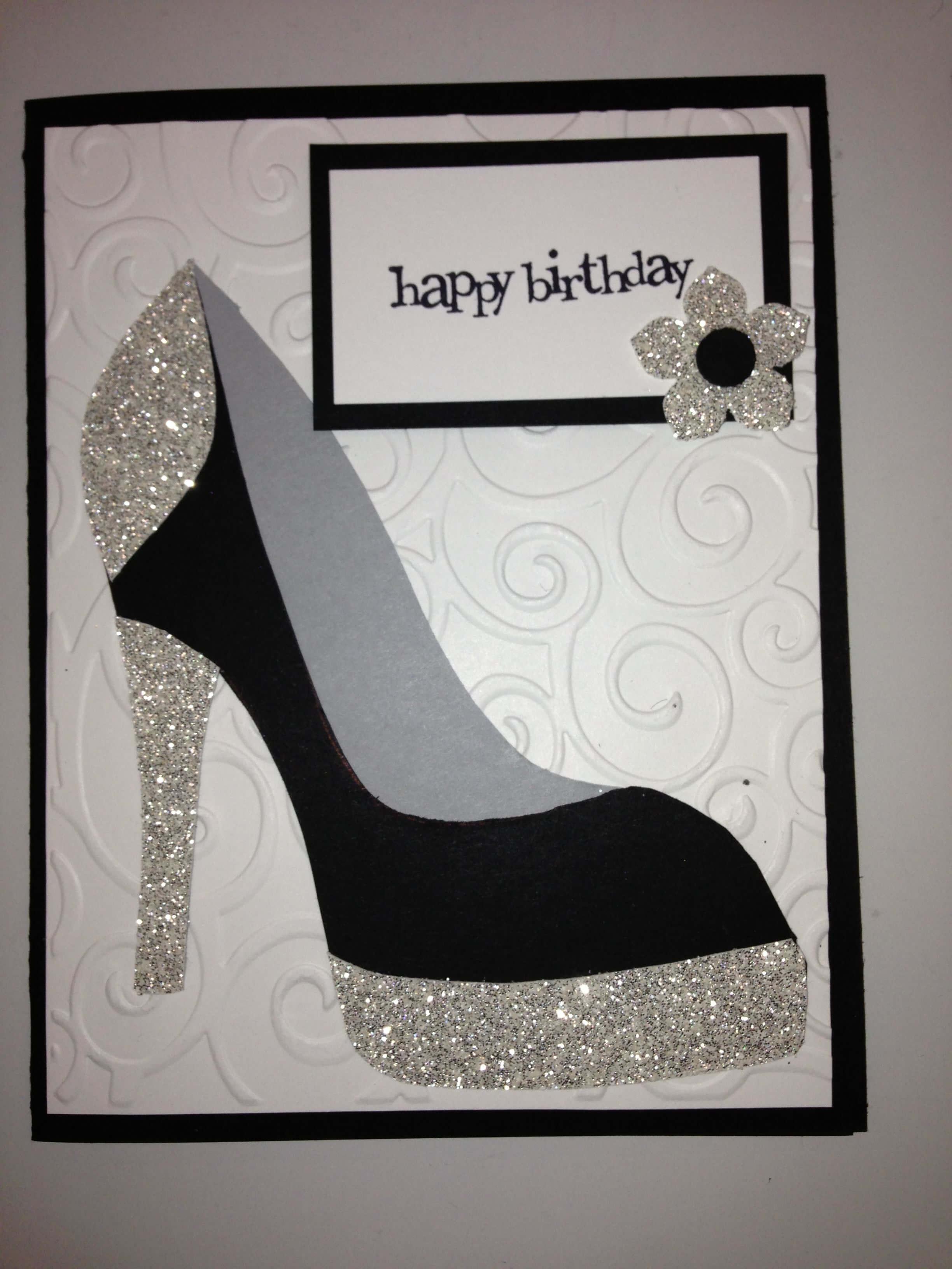 High Heel Shoe Card - Birthday Tanya Bell's High Heel Shoe throughout High Heel Template For Cards