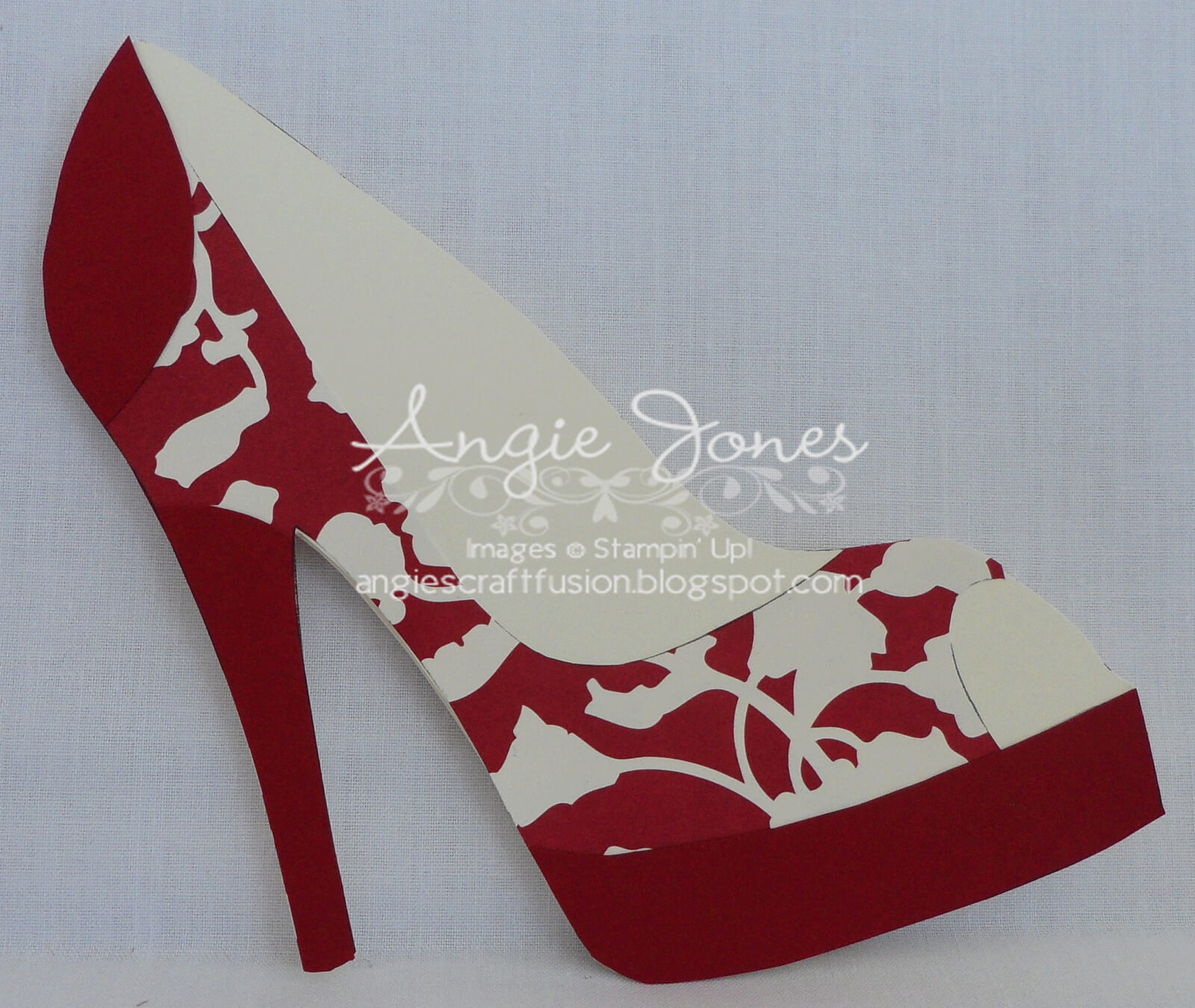 High Heel Shoe Card | Shoe Decor | Paper Shoes, Shoe With High Heel Shoe Template For Card