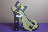 High Heel Shoe Card | The Sewgood Crafter within High Heel Shoe Template For Card