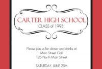 High School Class Reunion X Invitation Card Reunion regarding Reunion Invitation Card Templates
