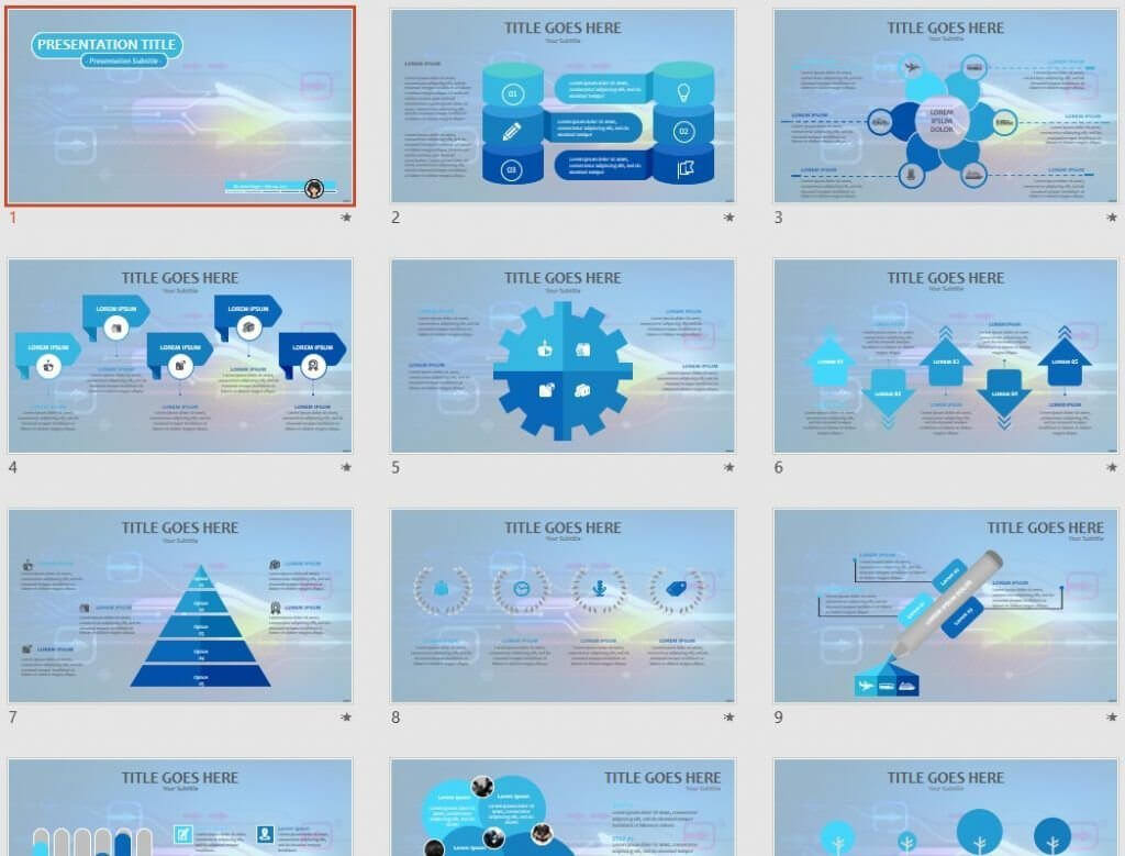 High Tech Powerpoint Template #67604 For High Tech Powerpoint Template