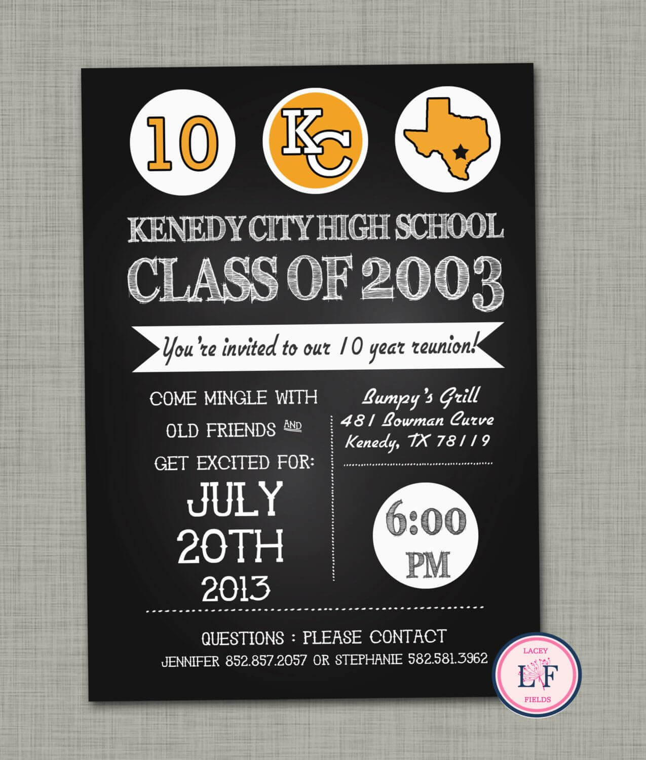 High+School+Reunion+Invitation+Printable++Family+By+ Throughout Reunion Invitation Card Templates