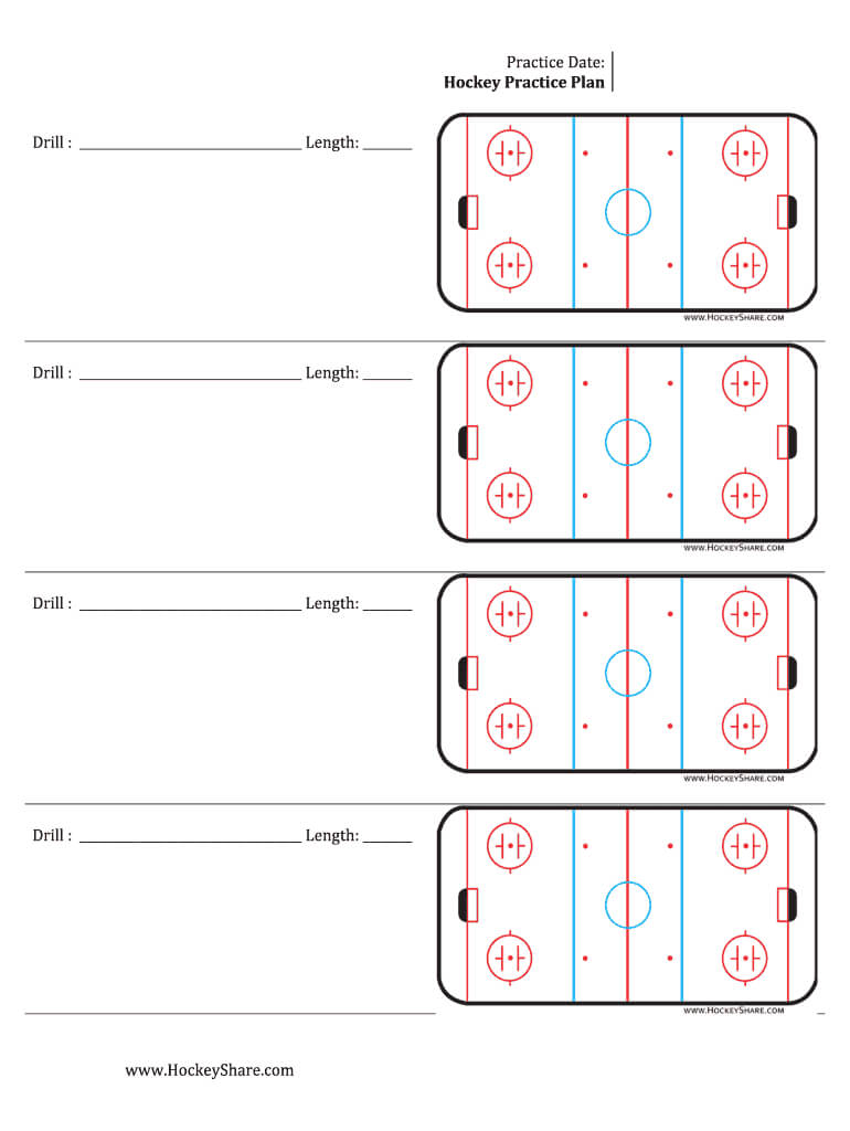 Hockey Practice Sheeyts - Fill Online, Printable, Fillable Intended For Blank Hockey Practice Plan Template