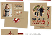 Holiday Card Photoshop Templates For Photographers with regard to Christmas Photo Card Templates Photoshop