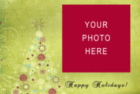 Holiday Card Templates | Madinbelgrade intended for Free Holiday Photo Card Templates