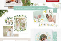 Holiday & Christmas Photo Card Templates For Photographers within Holiday Card Templates For Photographers