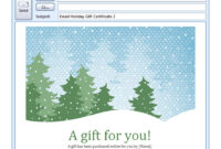 Holiday Email Template | Free Holiday Email Template for Holiday Card Email Template