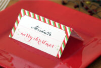 Holiday Place Card Diy Printable for Christmas Table Place Cards Template