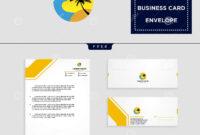 Holidays Logo Template And Free Letterhead, Envelope regarding Business Card Letterhead Envelope Template