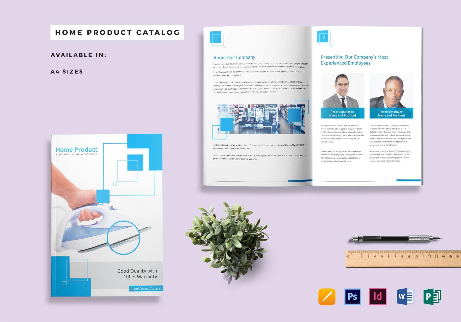 Home Product Catalog Template regarding Word Catalogue Template