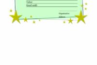 Homemade Gift Certificate Template – Printable Gift Vouchers in Homemade Gift Certificate Template