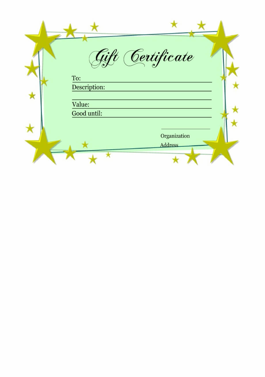 Homemade Gift Certificate Template - Printable Gift Vouchers in Homemade Gift Certificate Template
