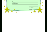 Homemade Gift Certificate Template | Templates At with Homemade Gift Certificate Template