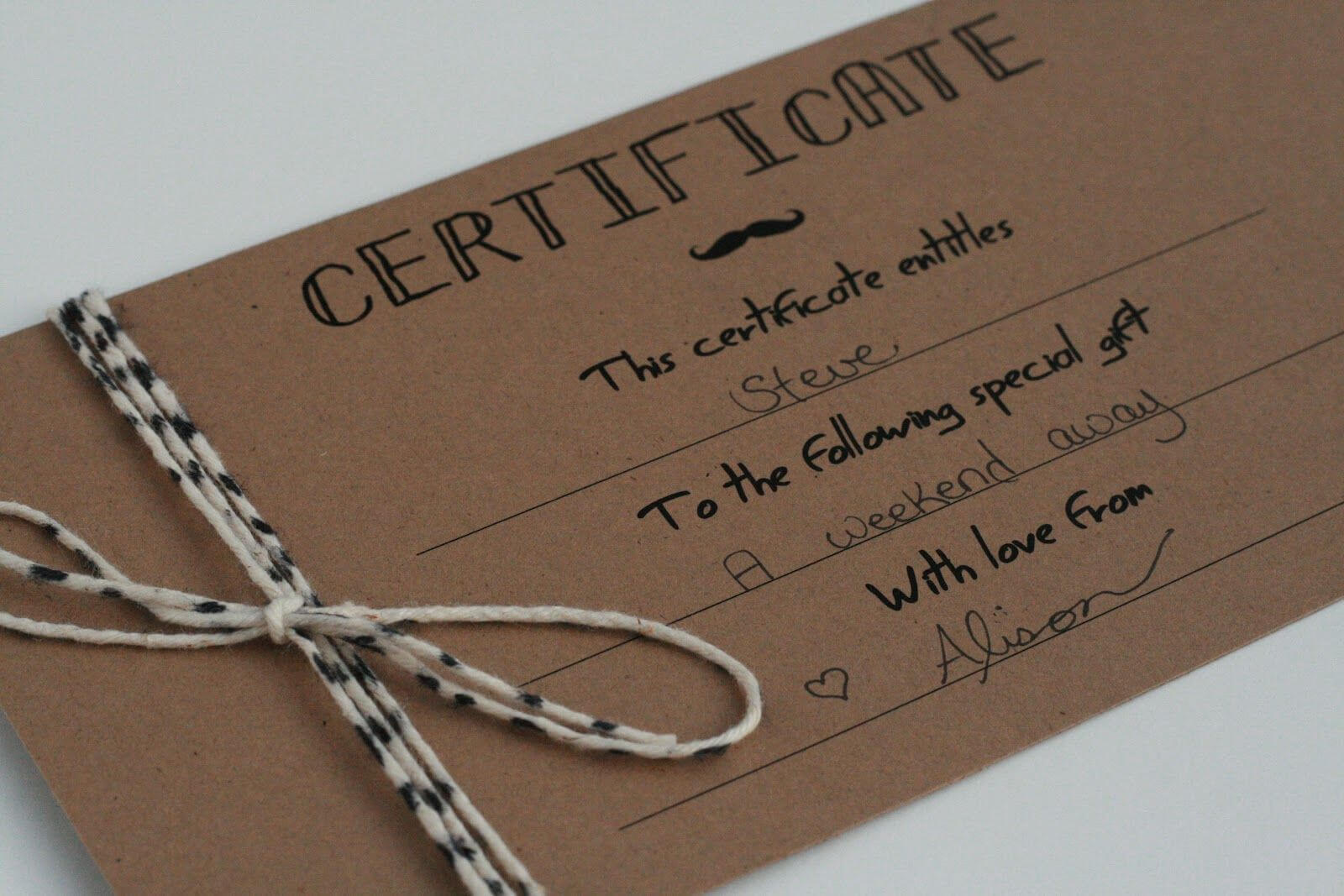 Homemade Gift Certificates (6) | Template Format within Homemade Gift Certificate Template