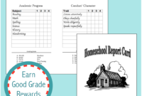 Homeschool Report Cards – Flanders Family Homelife Pertaining To Character Report Card Template