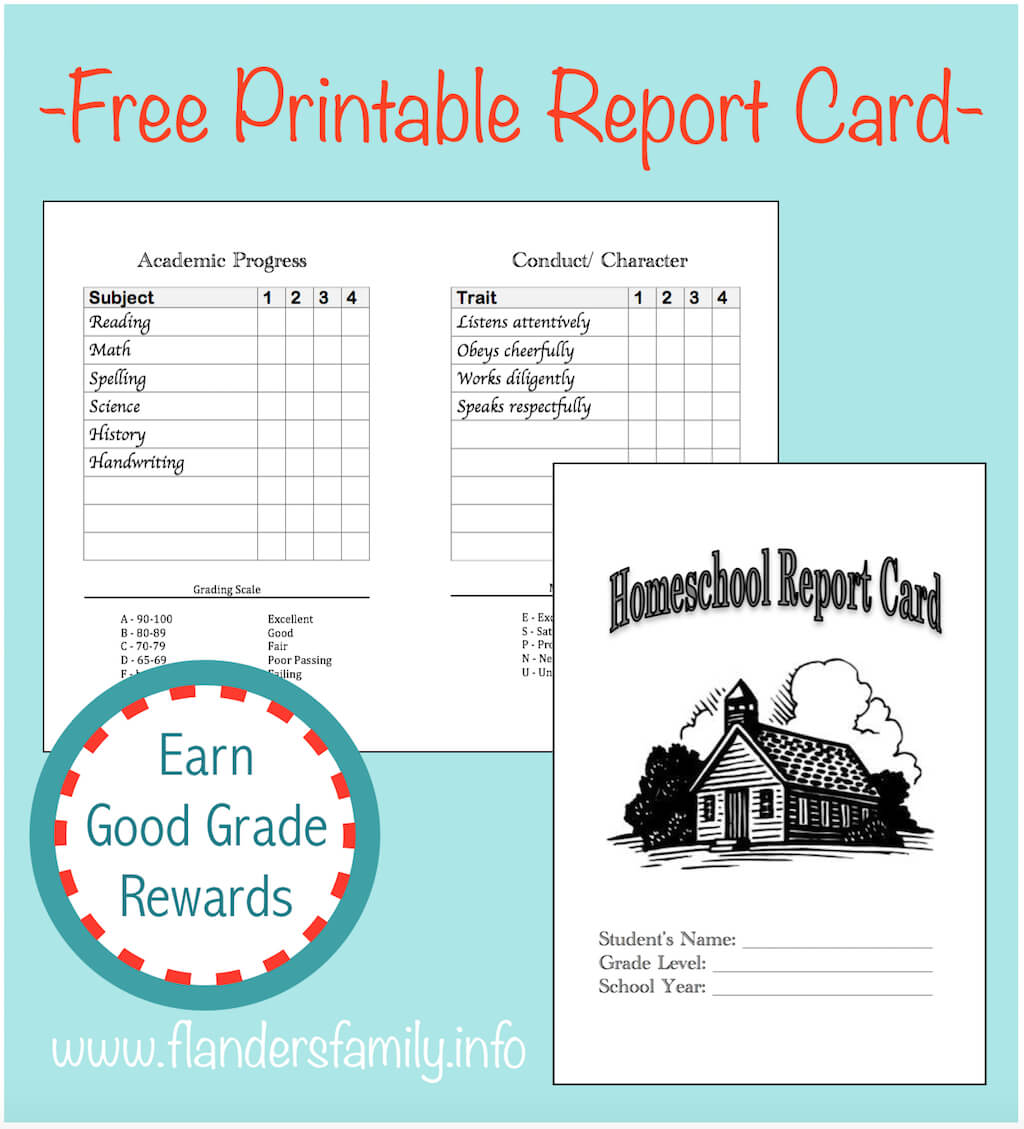 Homeschool Report Cards - Flanders Family Homelife Pertaining To Homeschool Report Card Template