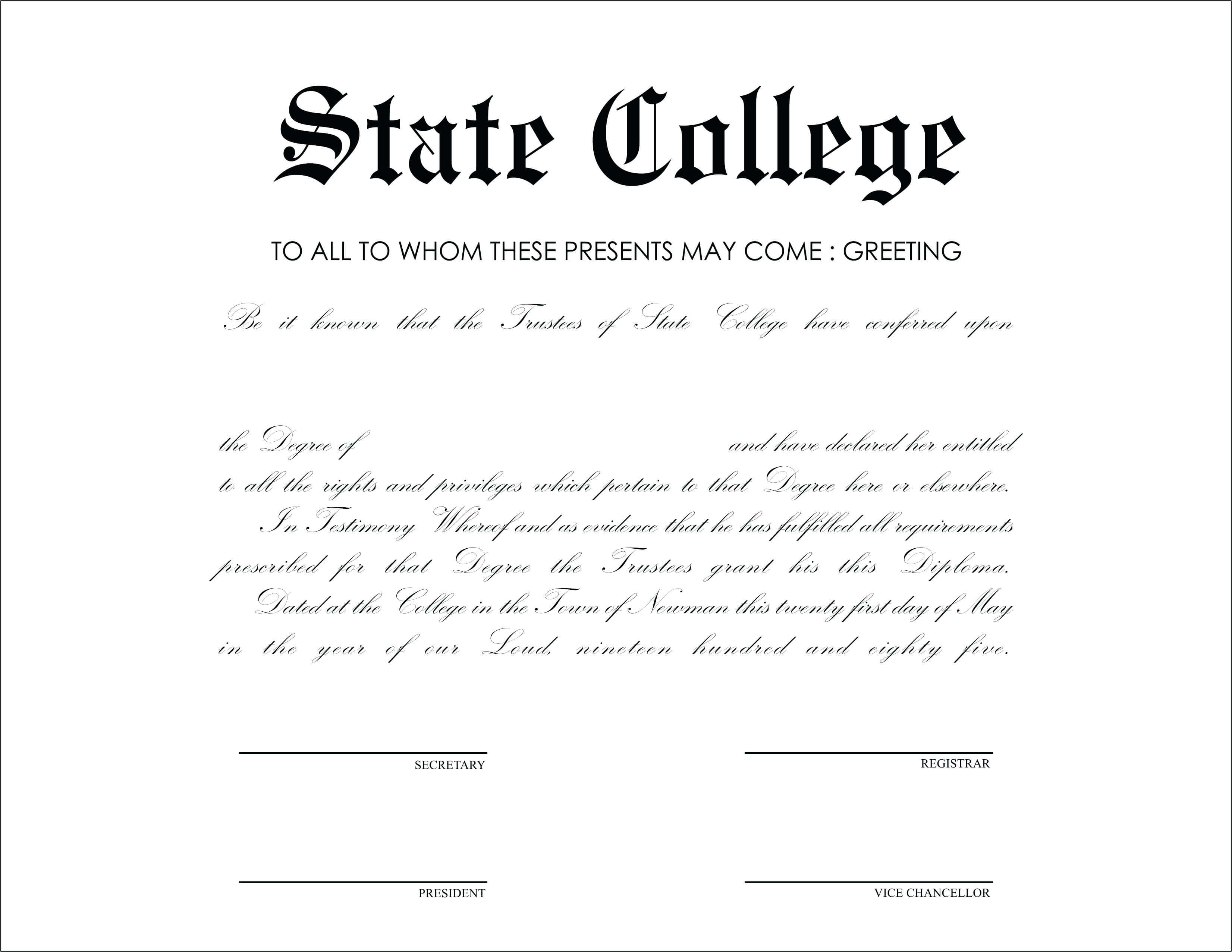 Honorary Diploma Template – Goodwincolor.co intended for Doctorate Certificate Template