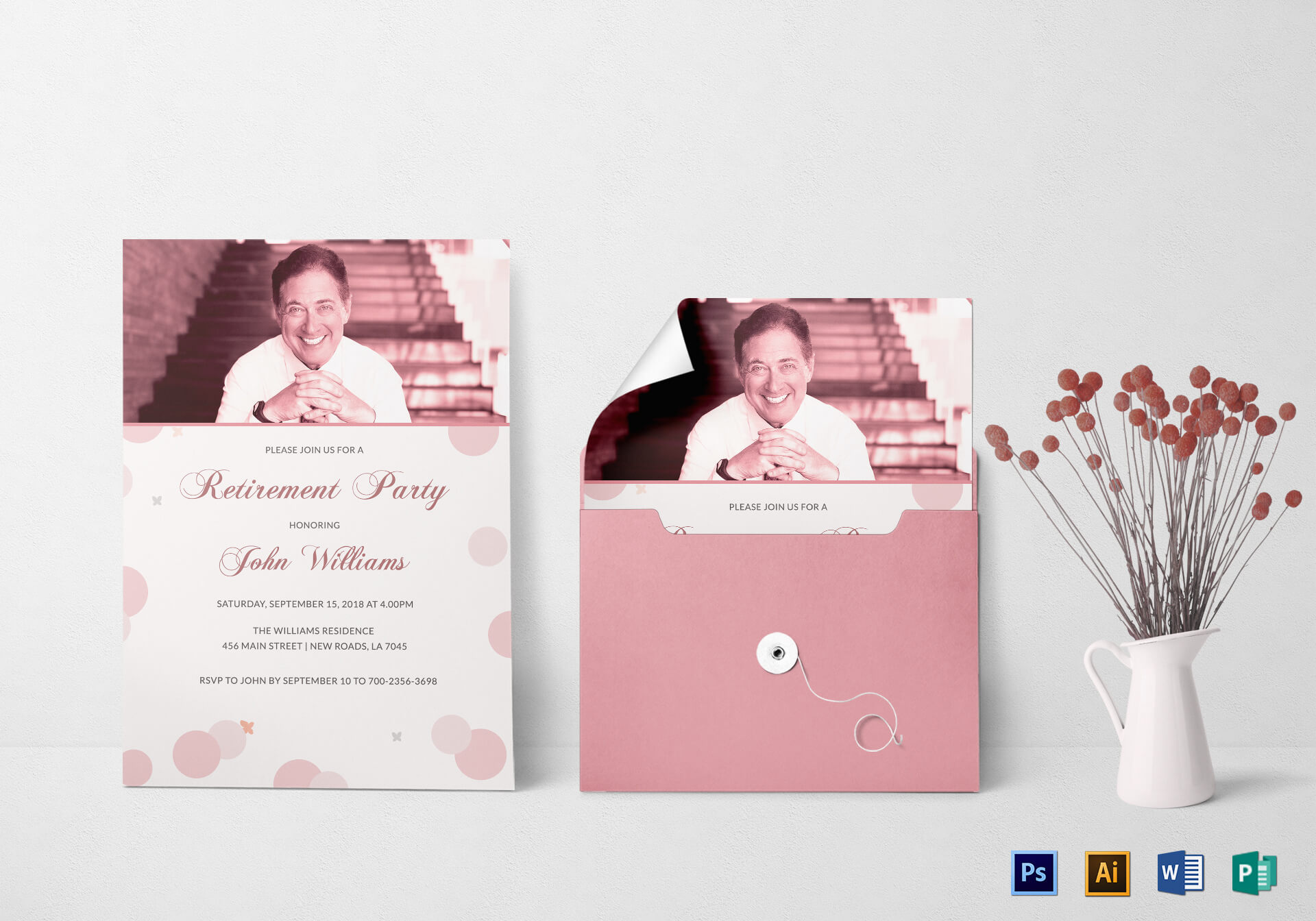 Honored Retirement Party Invitation Card Template regarding Retirement Card Template