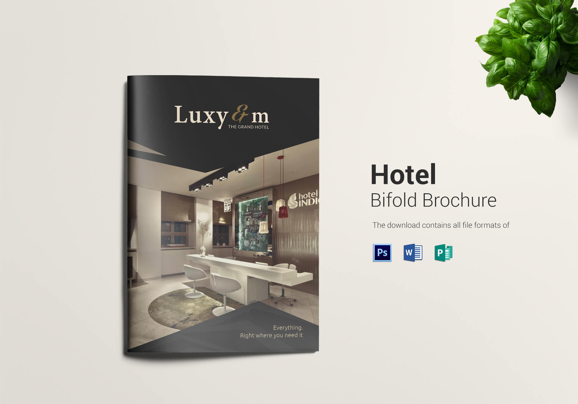 Hotel And Motel Bi Fold Brochure Template Intended For Hotel Brochure Design Templates