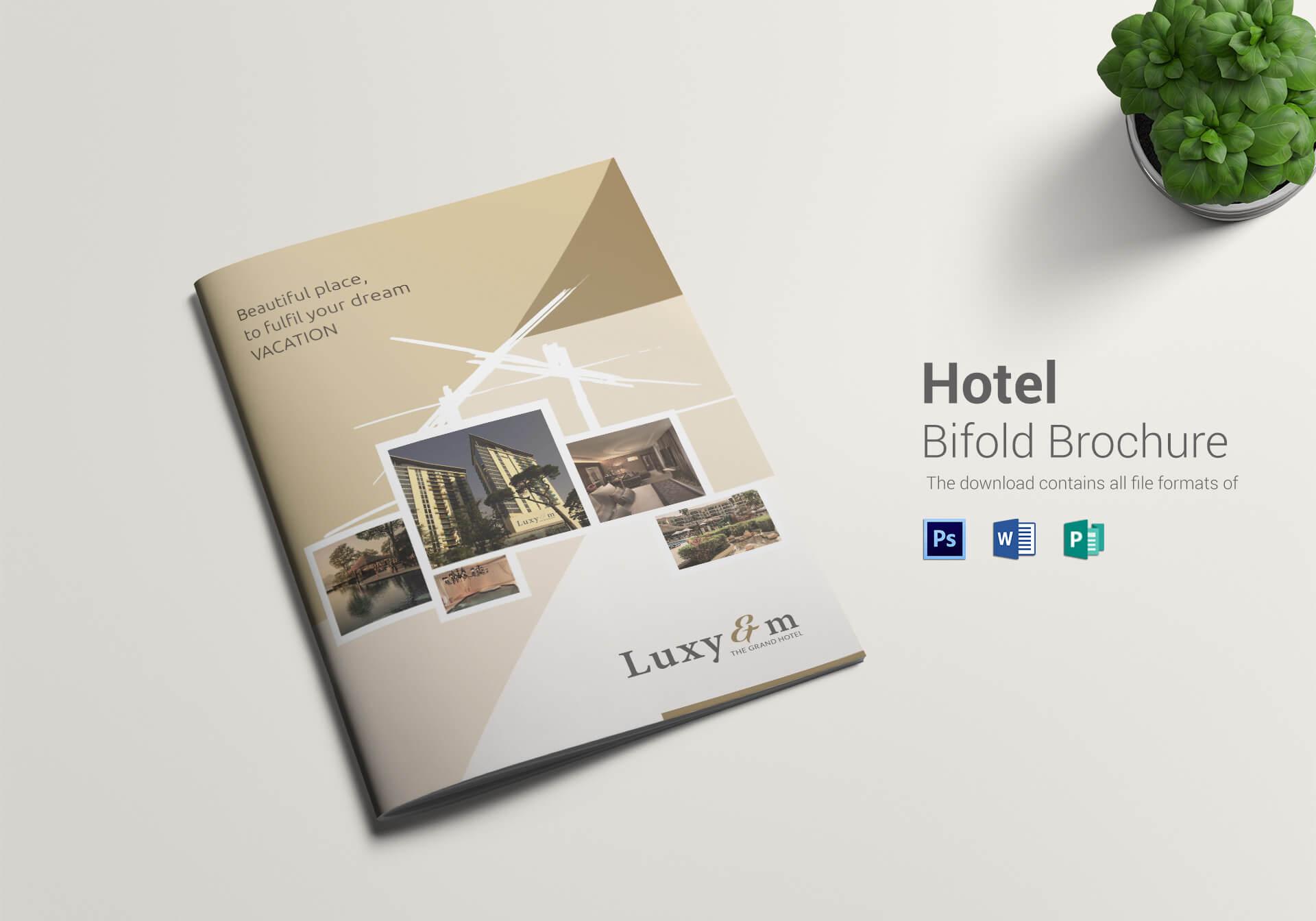 Hotel Bi Fold Brochure Template For Hotel Brochure Design Templates