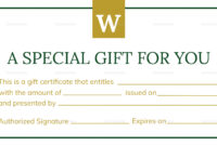 Hotel Gift Certificate Template In Gift Certificate Template Publisher