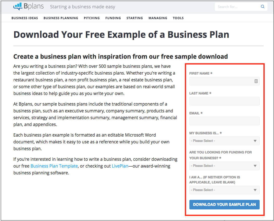 How Do I Download A Sample Business Plan From The Library with Business Plan Template Free Word Document