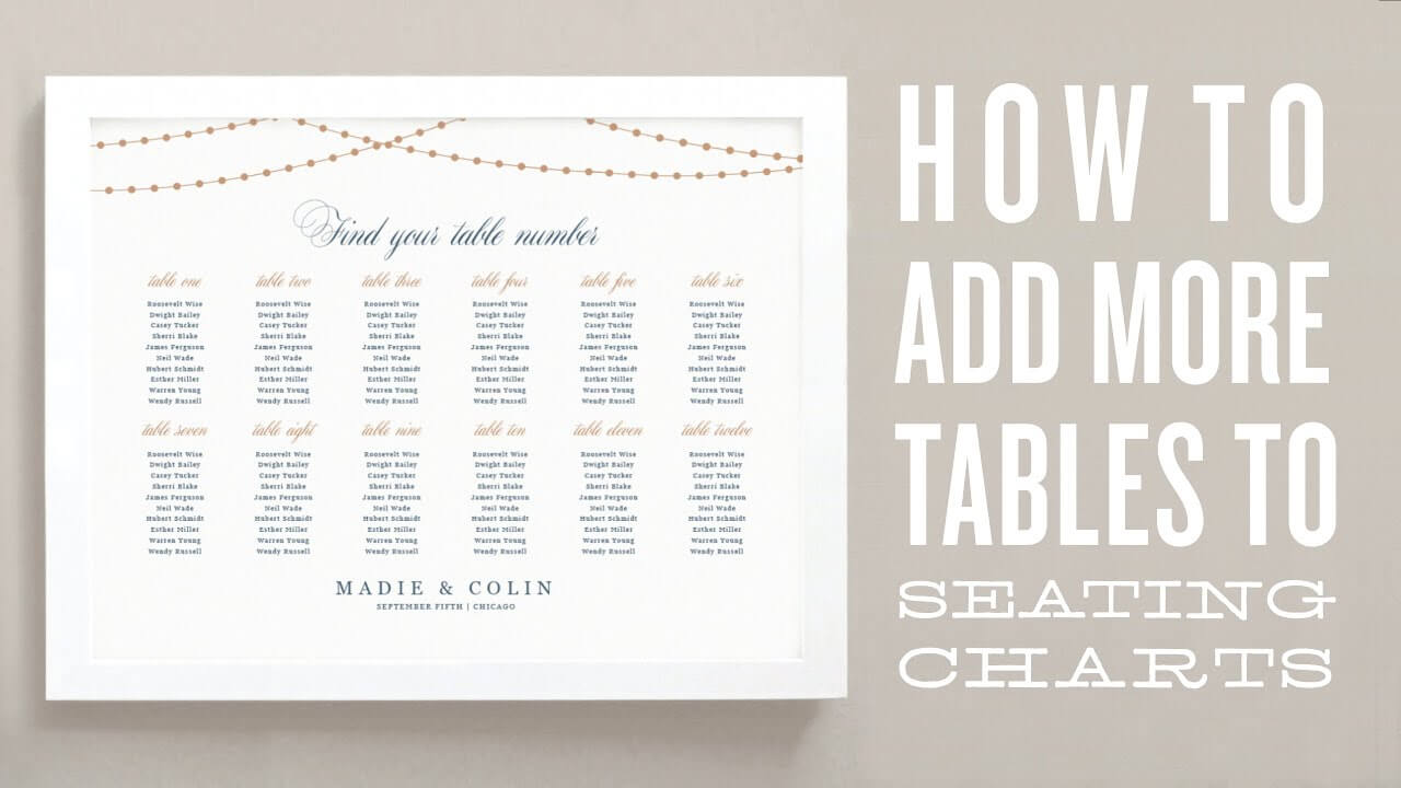 How To Add More Tables To Your Wedding Seating Chart Template Throughout Wedding Seating Chart Template Word
