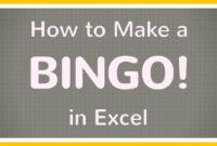 How To Create A Bingo Board Using Excel / Make Bingo Game In Excel Tutorial with Blank Bingo Card Template Microsoft Word